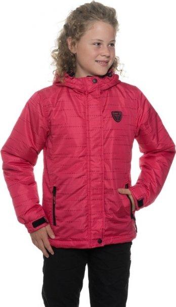 Růžová zimní dívčí bunda s kapucí Sam 73