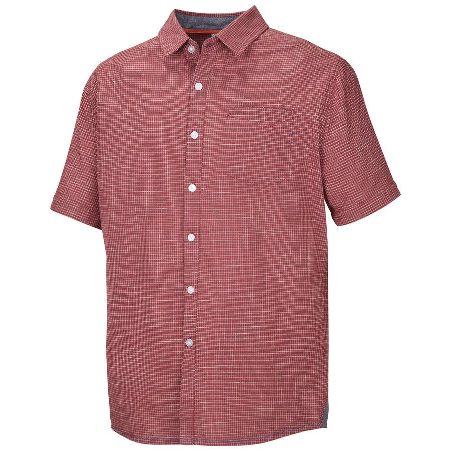 Červená pánská košile s krátkým rukávem Husky - velikost M