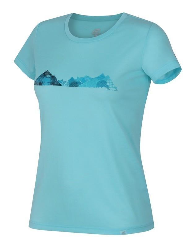 Modré dámské tričko s krátkým rukávem Hannah - velikost 42