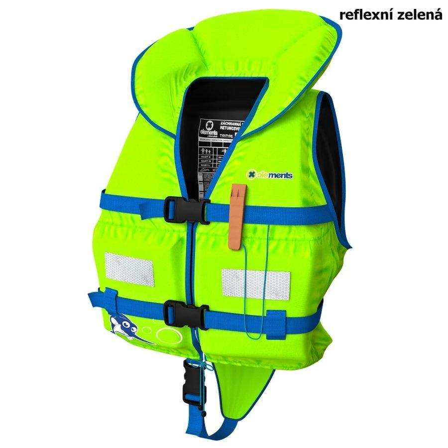 Zelená dětská chlapecká nebo dívčí záchranná vesta Baby, Elements Gear