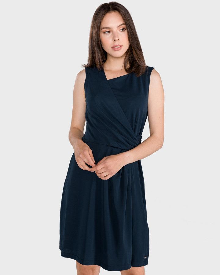 Modré dámské šaty Tommy Hilfiger - velikost XS