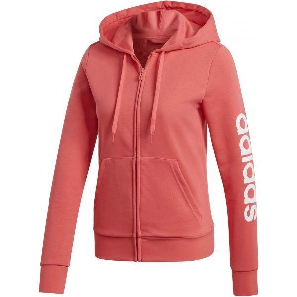Růžová dámská mikina s kapucí Adidas