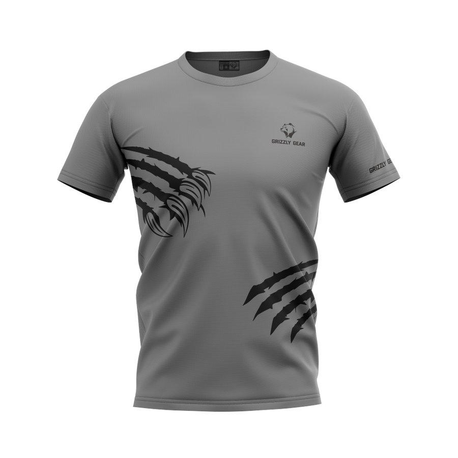 Šedé pánské tričko s krátkým rukávem Grizzly Gear
