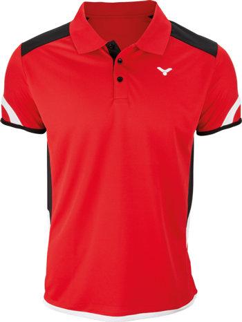 Červené pánské funkční tričko s krátkým rukávem Victor - velikost L