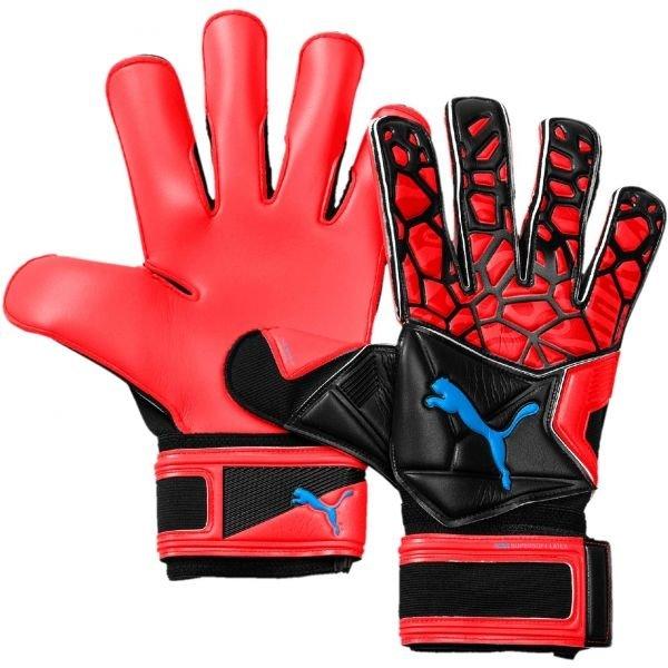 Červené pánské brankářské fotbalové rukavice Puma