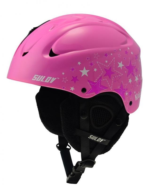 Růžová dívčí lyžařská helma Sulov - velikost 53-56 cm