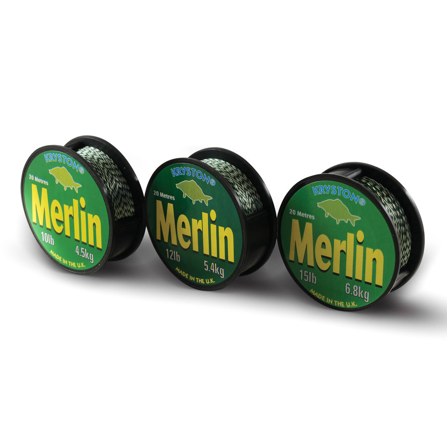 Návazcová šňůra - Kryston pletené šňůrky - Merlin 15lb 20m