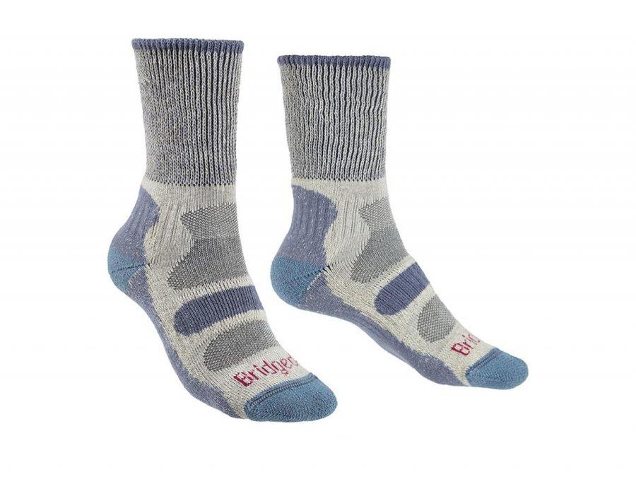 Modro-šedé dámské lyžařské ponožky Bridgedale