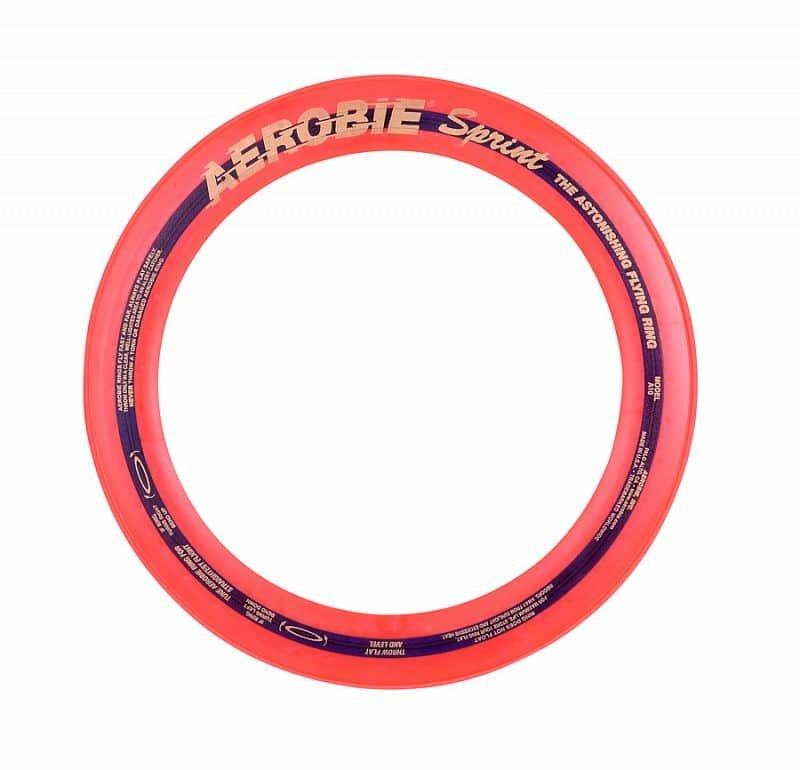 Oranžový plastový létající kruh Aerobie - průměr 25 cm