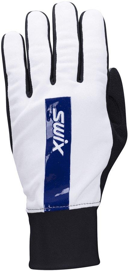 Bílé rukavice na běžky Swix