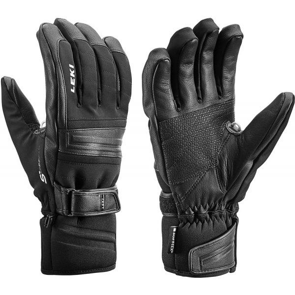 Černé pánské lyžařské rukavice Leki - velikost 7