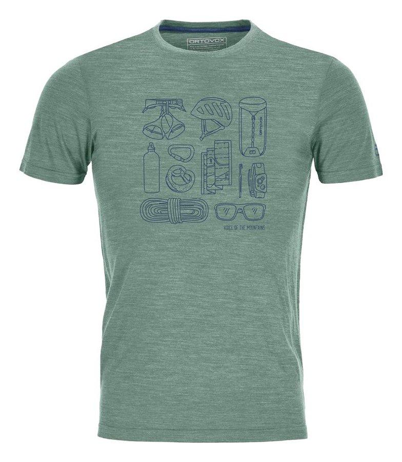 Zelené pánské termo tričko s krátkým rukávem Ortovox