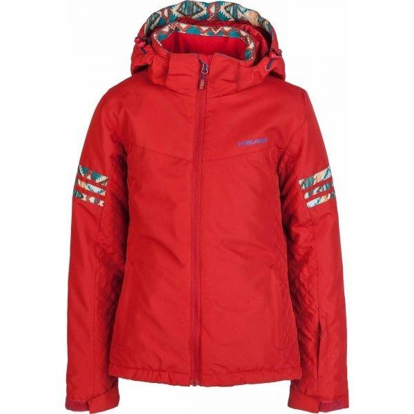Červená zimní dívčí bunda Head