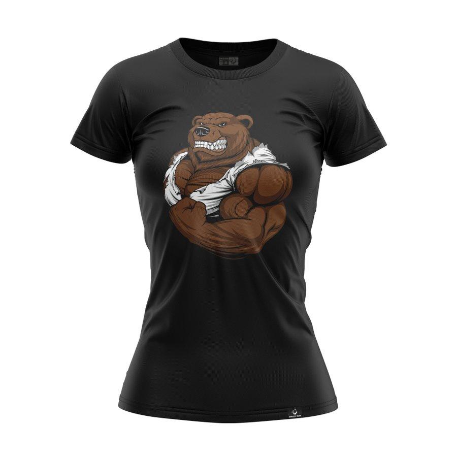 Černé dámské tričko s krátkým rukávem Grizzly Gear