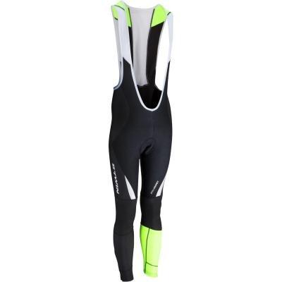 Dlouhé unisex cyklistické kalhoty se šlemi B'TWIN - velikost M