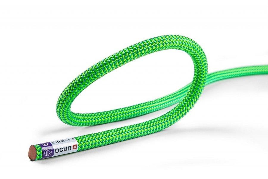 Zelené horolezecké lano Ocún - průměr 9,8 mm