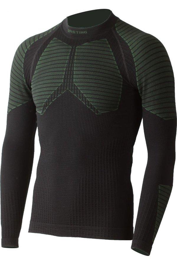 Černé pánské termo tričko s dlouhým rukávem Lasting - velikost S