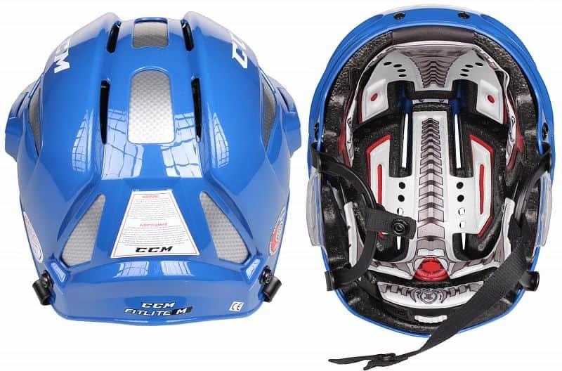 Hokejová helma - FitLite hokejová helma barva: bílá;velikost oblečení: M