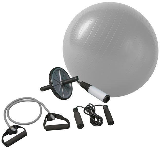 Gymnastický míč - ACRA D46 Fitnes set pro posilování a rehabilitaci