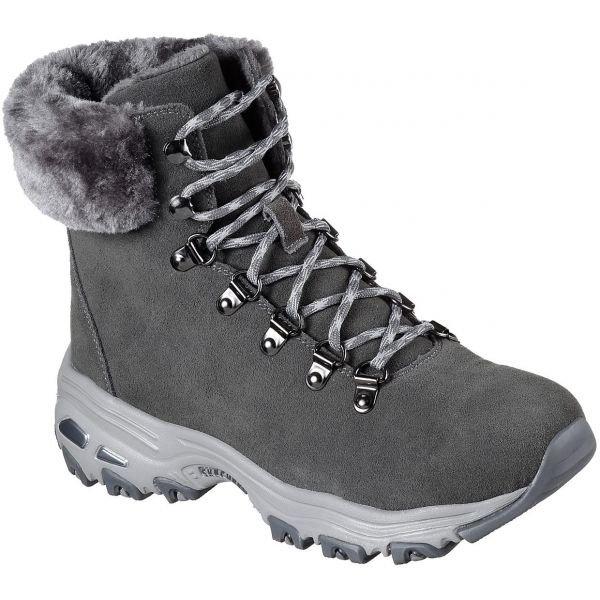Šedé dámské zimní boty Skechers