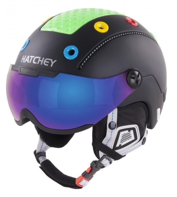 Černá dětská lyžařská helma Hatchey - velikost 50-54 cm