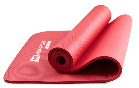 Červená podložka na cvičení Hop-Sport - tloušťka 1 cm