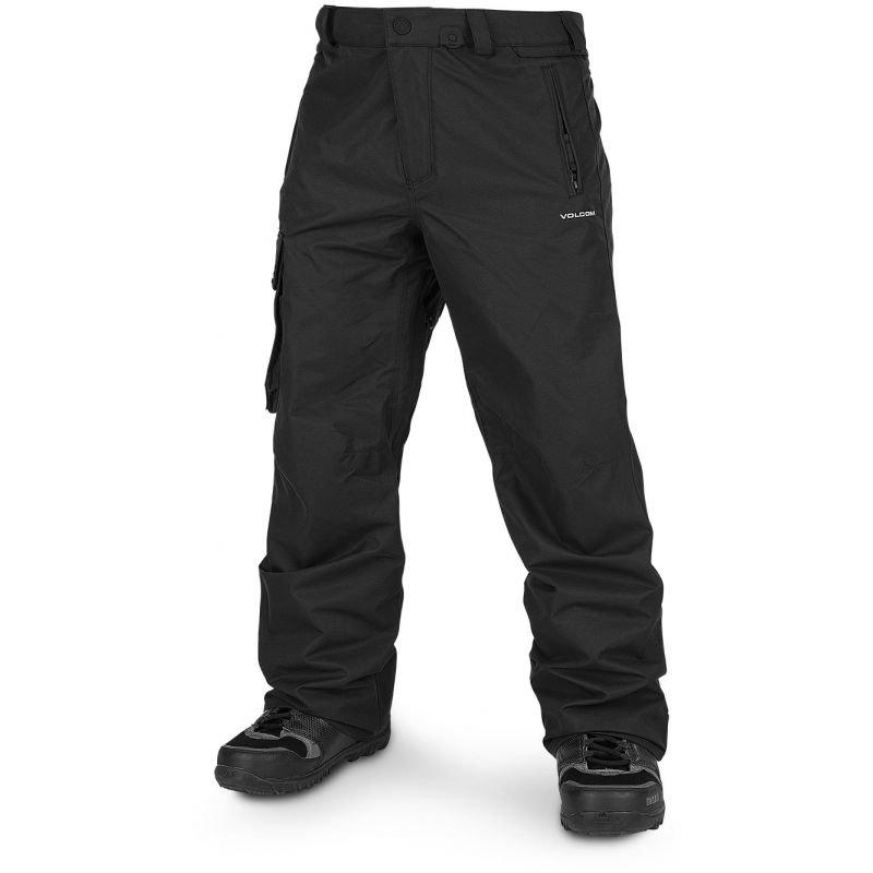 Černé pánské snowboardové kalhoty Volcom