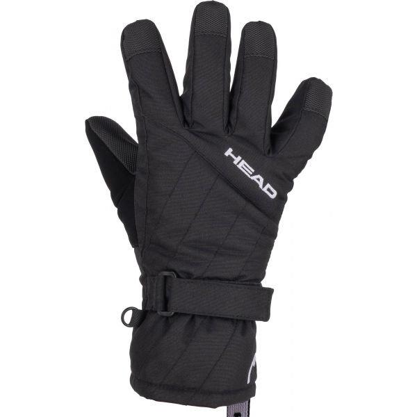 Černé dětské lyžařské rukavice Head