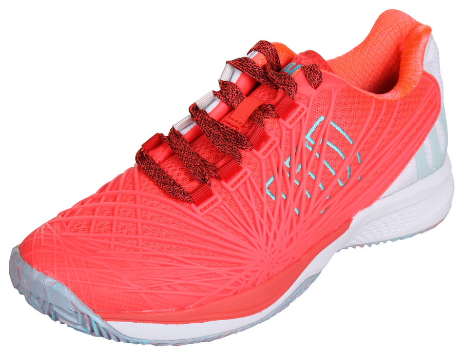 Červeno-oranžová pánská tenisová obuv Kaos 2.0 Clay Court, Wilson - velikost 38 1/3 EU