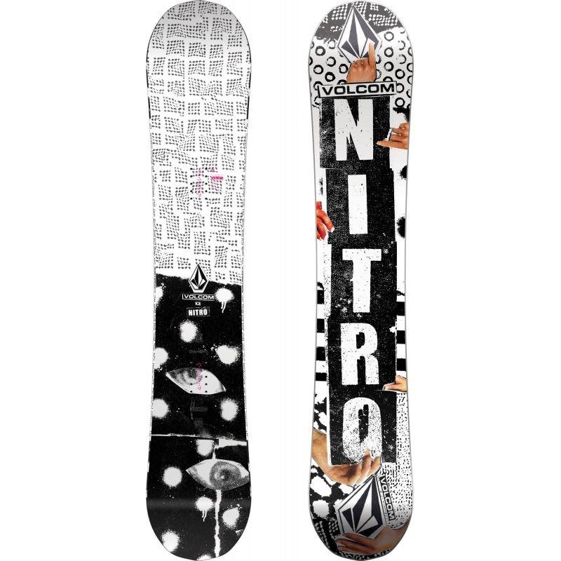 Bílý snowboard bez vázání Nitro - délka 157 cm