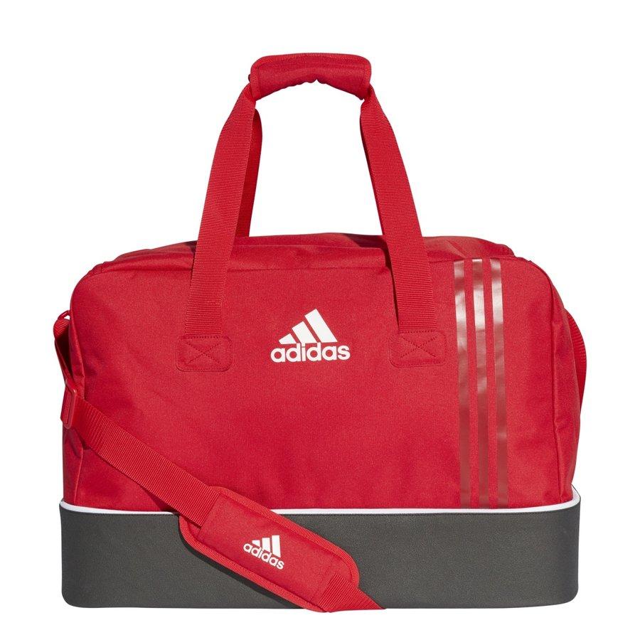 Červená fotbalová taška s dvojitým dnem Adidas - objem 62,9 l
