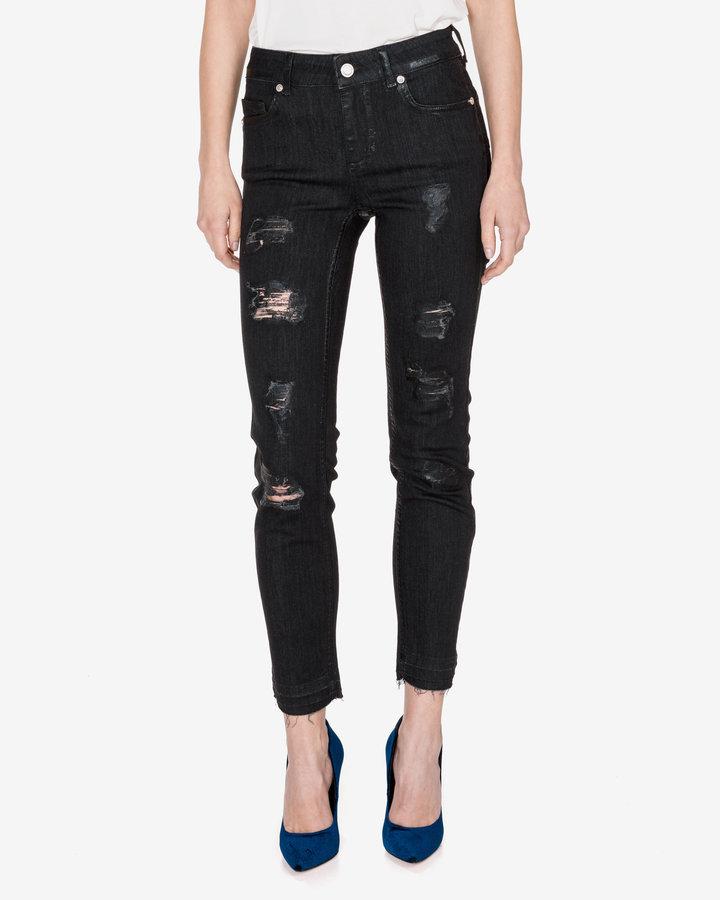 Černé dámské džíny Silvian Heach