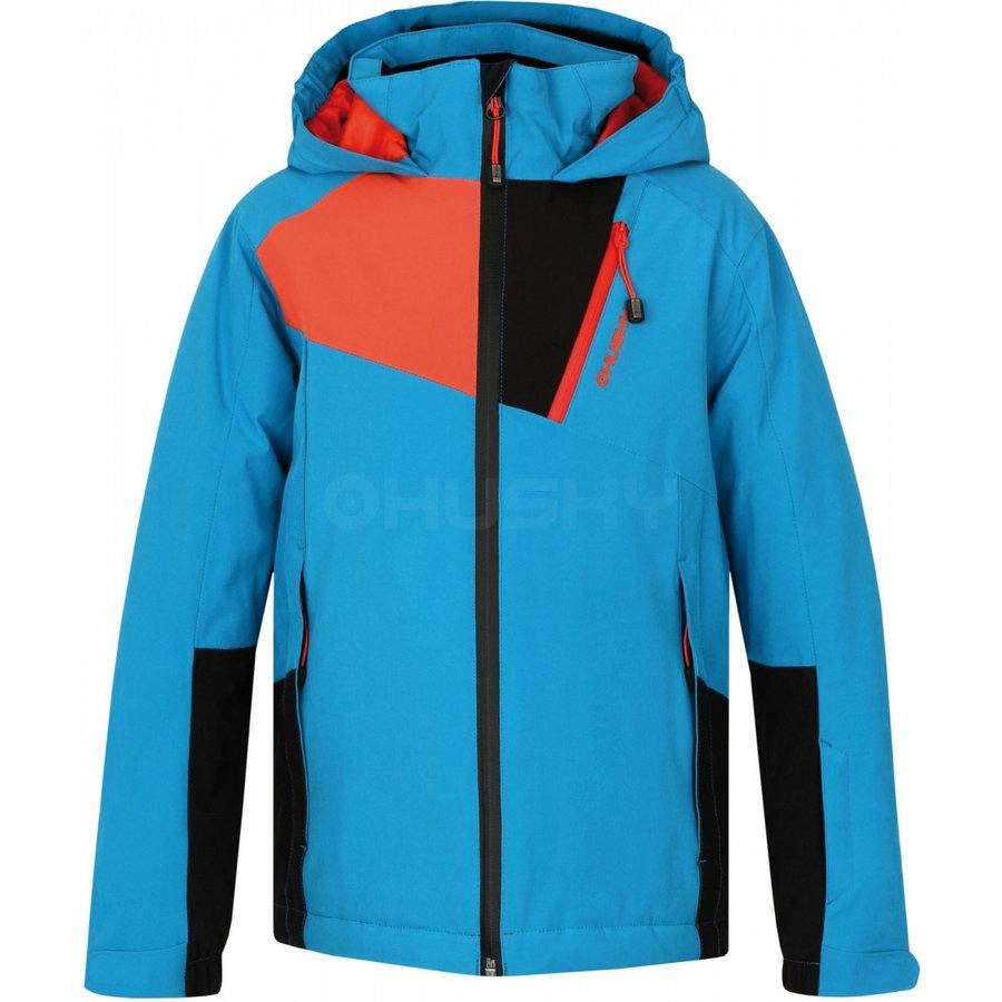 Modrá dětská dívčí nebo chlapecká bunda Husky - velikost 140