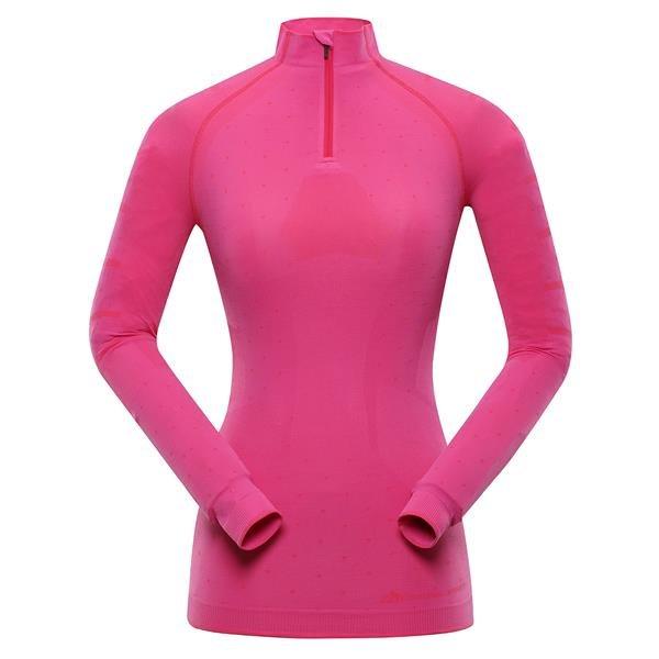 Růžové dámské funkční tričko Alpine Pro - velikost XS-S