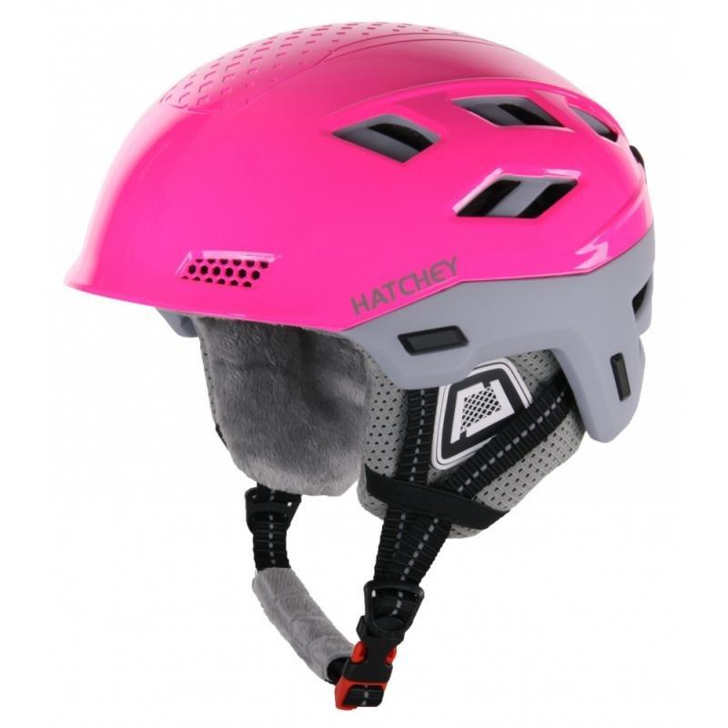 Růžová lyžařská helma Hatchey - velikost 55-60 cm