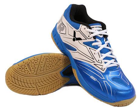 Bílo-modrá pánská sálová obuv A180, Victor - velikost 40 EU
