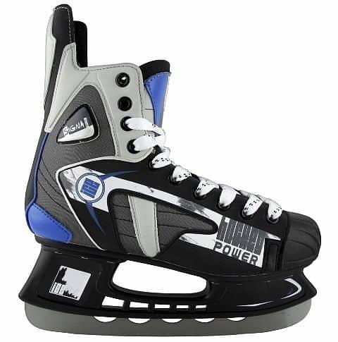 Hokejové brusle - Zimní brusle SIGNA SH 28 AS šedomodré 45