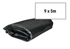 Černá solární plachta na bazén FLOBAL - průměr 500 cm, délka 900 cm a šířka 500 cm