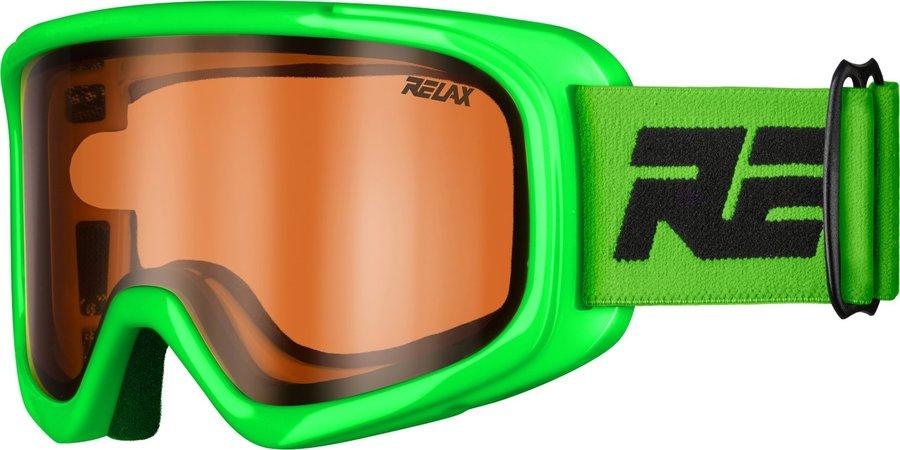 Zelené dětské lyžařské brýle Relax