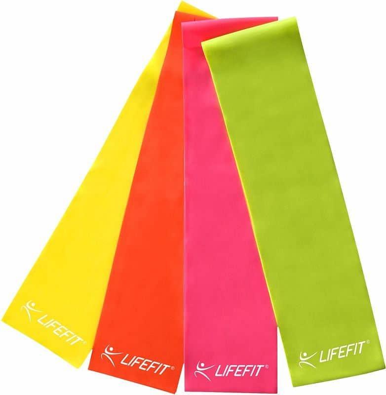 Posilovací guma - Posilovací guma LIFEFIT FLEXBAND 0,35, růžová