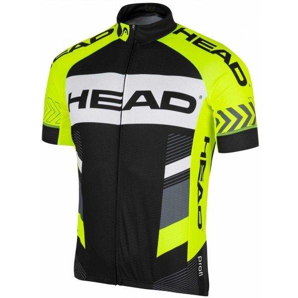 Černo-žlutý pánský cyklistický dres Head - velikost M