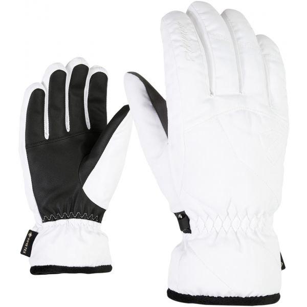 Bílé dámské lyžařské rukavice Ziener