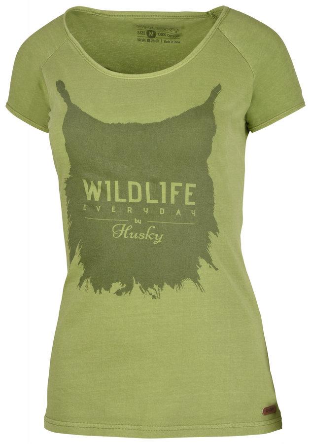 Zelené dámské tričko s krátkým rukávem Husky