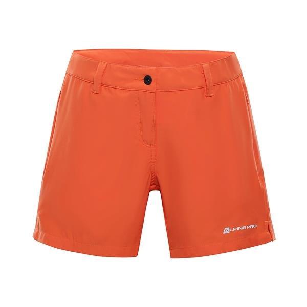 Oranžové dámské turistické kraťasy Alpine Pro - velikost 46
