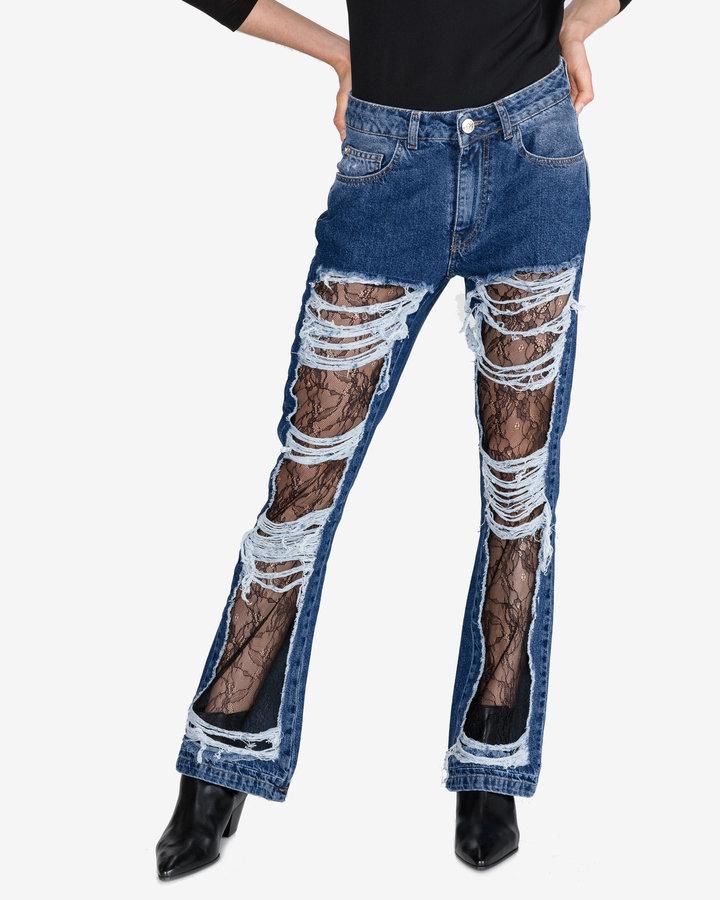 Modré dámské džíny Twinset