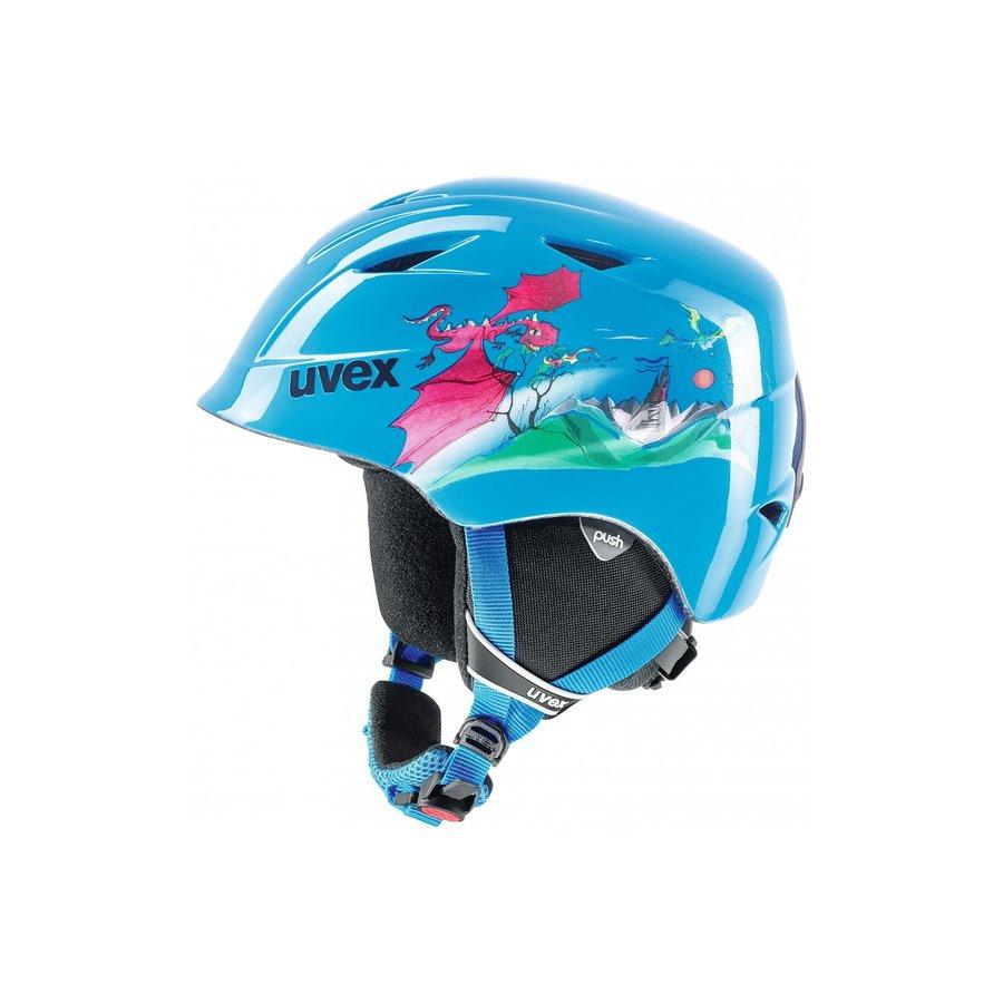 Modrá lyžařská helma Uvex - velikost 4XS