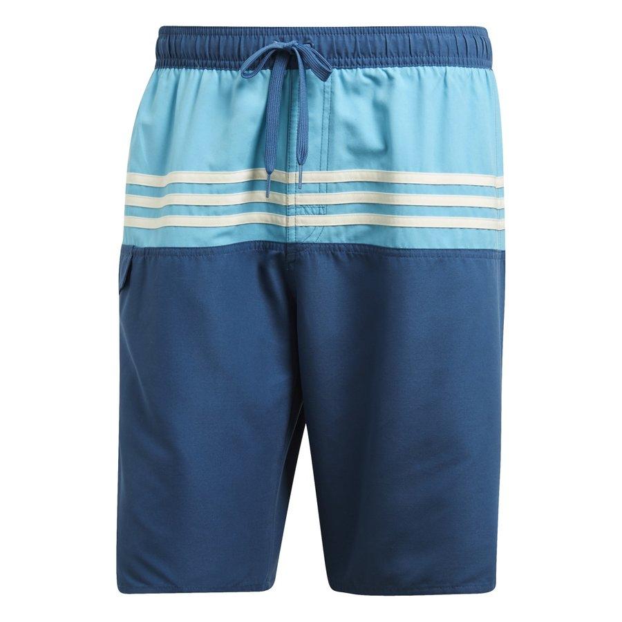 Modré pánské koupací kraťasy 3S Color Short Classic-Length, Adidas - velikost L