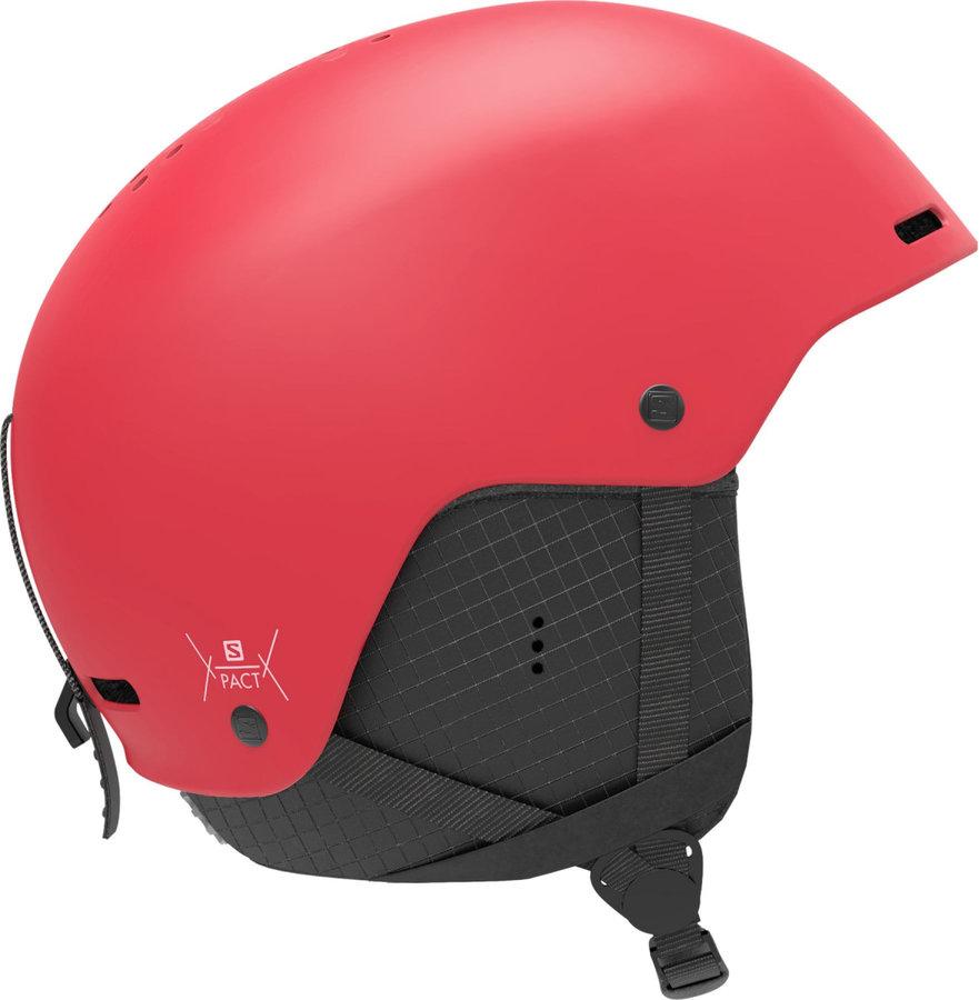 Červená dětská lyžařská helma Salomon