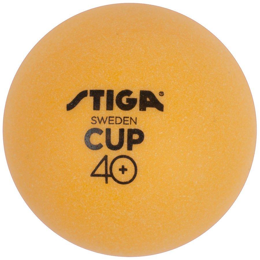 Oranžový míček na stolní tenis Stiga - 6 ks
