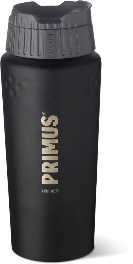 Černá termoska na pití Primus - objem 0,35 l